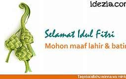 SMS Ucapan Lebaran Raya Idul Fitri 2017/1438 H Terbaru