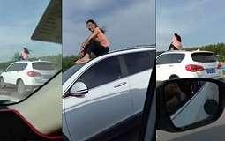 VIDEO: Duduk di Atas Mobil yang Melaju, Perempuan Ini Diadukan Warganet